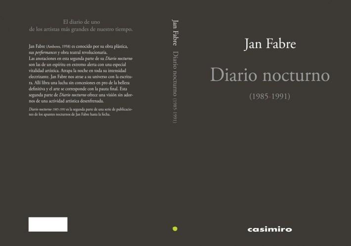 Jan Fabre Diario nocturno (1985-1991)